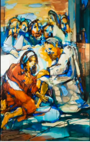 2016 Vilmantas Jesus vasker disciplenes fødder, Hedeagerkirken Skærmbillede 2017-04-25 07.46.18