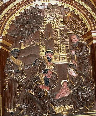 1591 Renæssance Helligtrekonger Prædikestol Sct. Catharinæ, Ribe.JPG