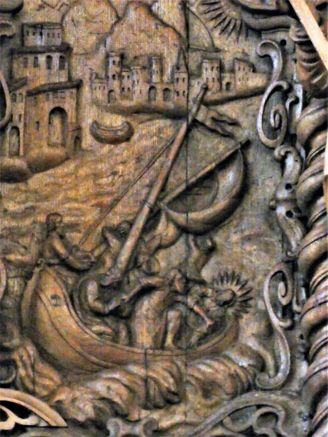 1661 Abel Schrøder d y, Holmens Kirkes prædikestol Claus P1120127.jpg
