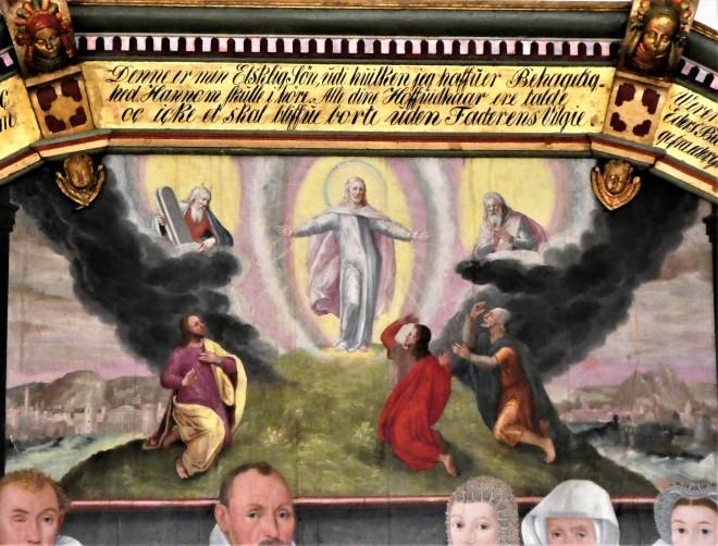1600 Visborg Kirke udsnit Jacob Seefelds epitafium m hustruer Rosenkrants og bilde, Claus  (8).jpg