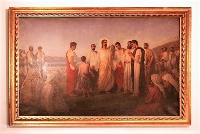 1902 Johannes Wilhjelm Bespisningen Johs 6,8 Sankt_Andreas_Kirke_Copenhagen_old_altarpiece (2)