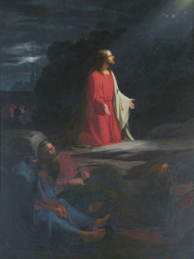 1836 Adam Müller Getsemane tidl altertavle i Øsby
