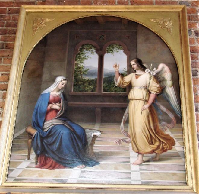 1840 J L Lund Mariæ Bebudelse,Skt. Mariæ Kirke Helsingør Kulturtur december 2016 242.jpg
