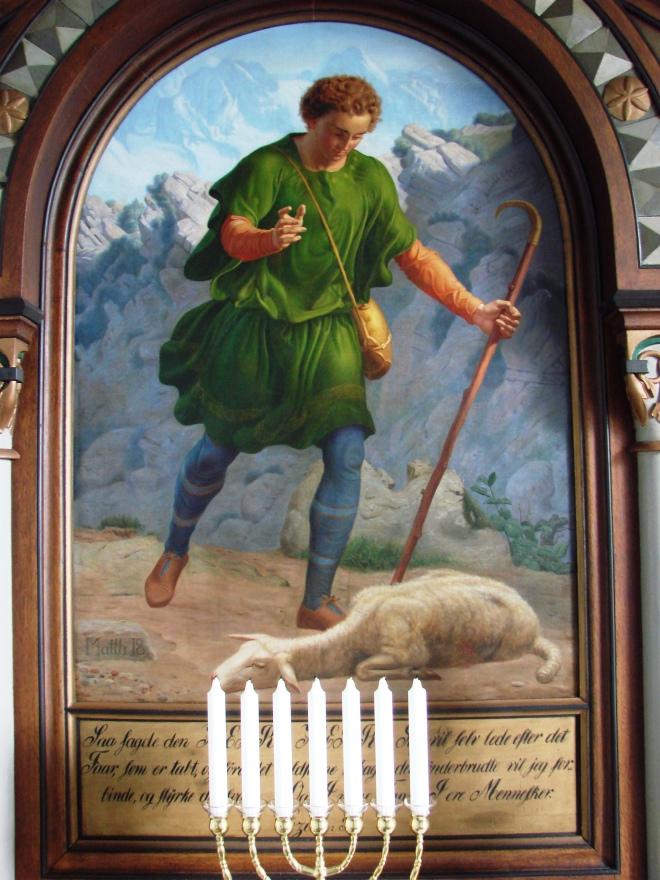 1864 Chr. Dalsgaard Den gode hyrde Altertavle Ljørslev Morsø.Claus jpg