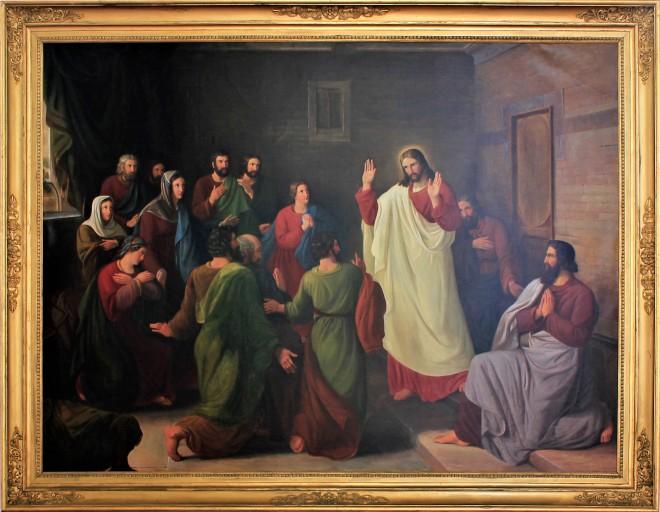 1842 Dankvart Dreyer Den opstandne viser sig for disciplene, altertavle Assens Kirke.jpg