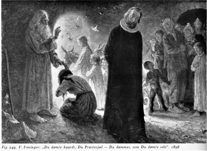 1898 V Irminger Du dømte hårdt, du præstesjæl - du dømmes, som du dømmer selv, Mortensens Bd II.jpg