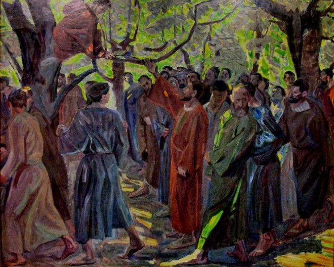 1913 Niels Larsen Stevns Kristus og Zakæus, Randers Kunstmuseum Billede1