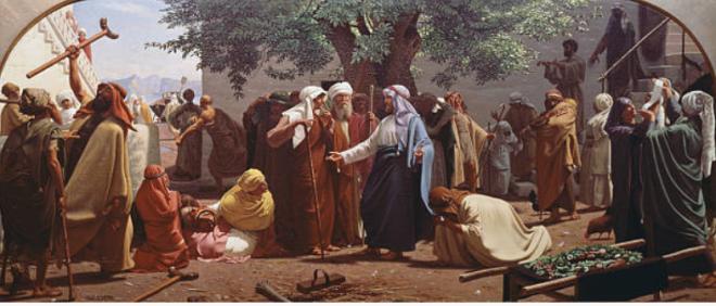 Chr Dalsgaard Jesus hører Johannes Døber kalde fra fængslet. Jesus helbreder syge. Gettyimages Screenshot 2018-09-12 21.16.31