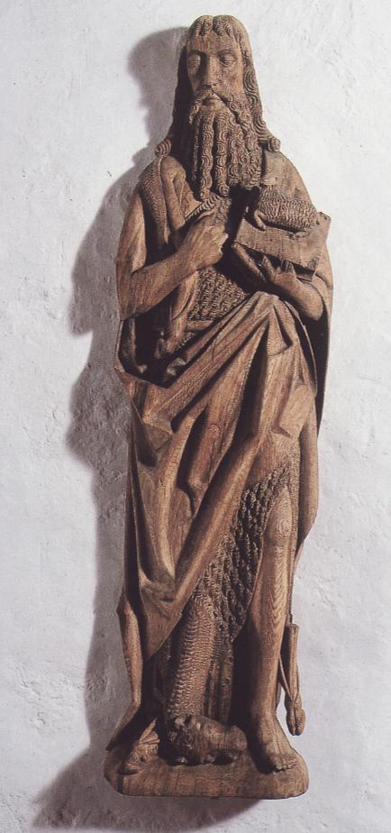 1500ca Linå Kirke, Thomas kluges model til altertavlens topstykke Billede1.png
