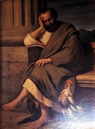 1867 A. Hunæus maleri Peter m hanen udsnit Sundby Amager
