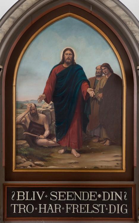 1912 Chr. Andersen, Thisted, Jesu helbredelse af den blinde ved Jerikovejen (foto C)SetHeight750-4412vesloesvalg