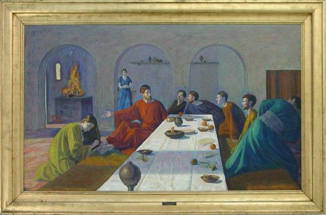 1907-8 Niels Larsen Stevns_Maria salver Kristi fødder